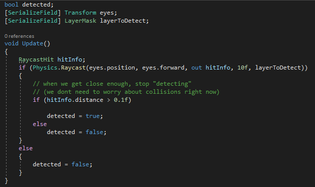 Simple Detection Code - Raycast