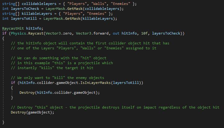 Unity Code Example - LayerMask ExtensionMethod usage