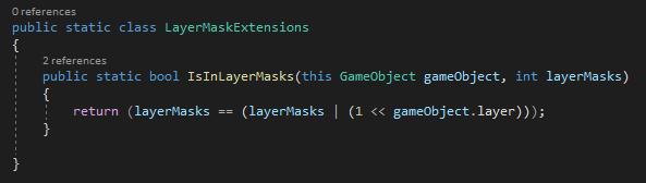 Unity Code Example - LayerMask ExtensionMethod