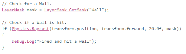 Unity LayerMask Documentation - string to int